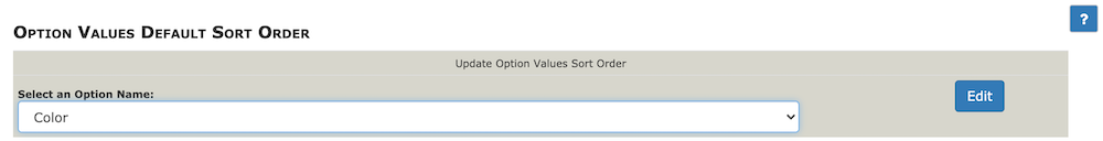 Option Value Sorter - Select option name