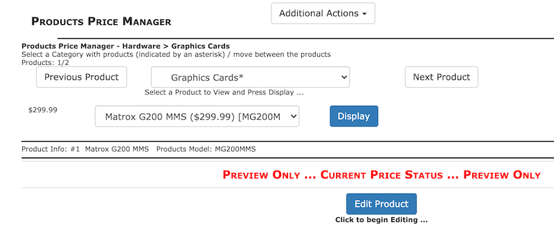 Products Price Manager preview